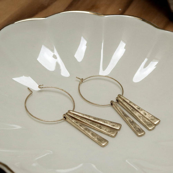 Trinity Wire Hoop Earrings