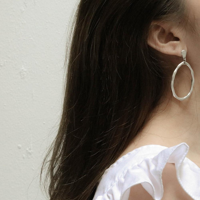 A KIND OOOF | Irregular Oval-Shaped Stud Earrings