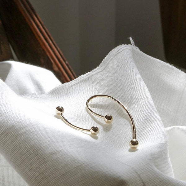 Asymmetrical Curve Earrings