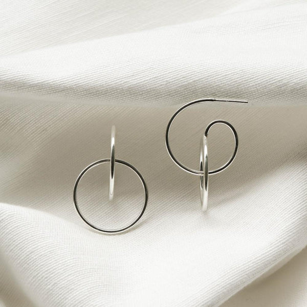 A KIND OOOF | 925 |Handcrafted| Contemporary Curve Stud Earrings