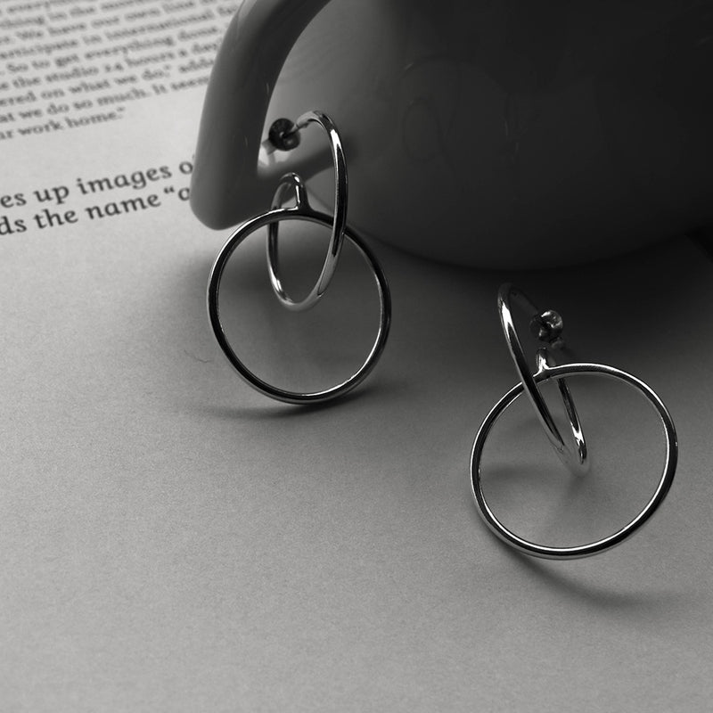 925 |Handcrafted| Contemporary Curve Stud Earrings