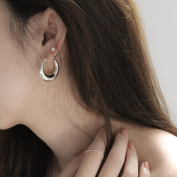 925 Silver Chubby Round & Stretched Earrings | A KIND OOOF