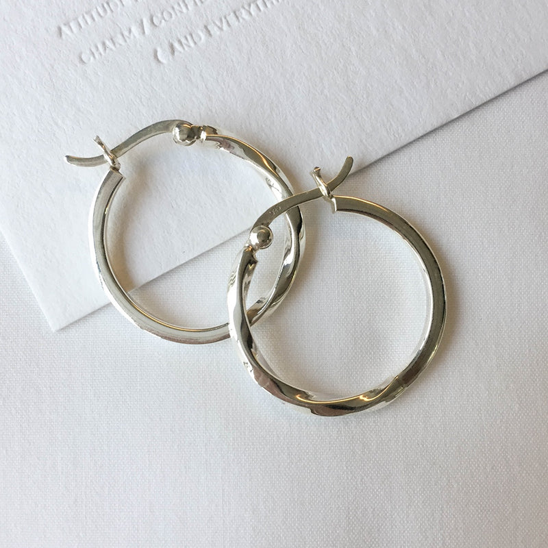 925 Half Twist Earrings