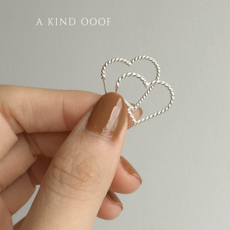 925 |Handcrafted| Lovely Heart Earrings