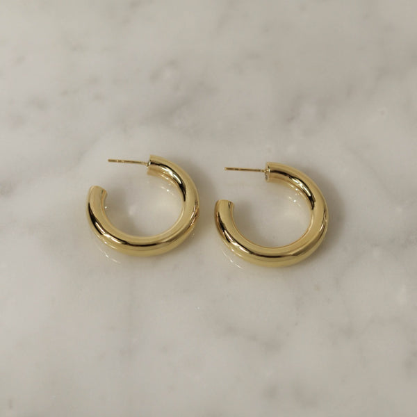 925 Minimalist Trend Earrings, 14K Gold Vermeil