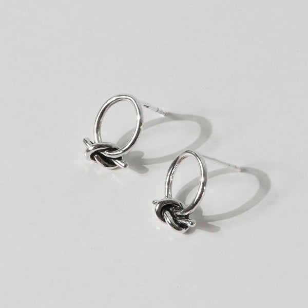 925 |Handcrafted| Knot Earrings