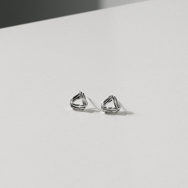 925 |Handcrafted| Mobius Triangle Earrings | A KIND OOOF