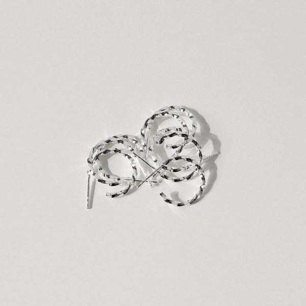 925 Twisting Crescent Earrings