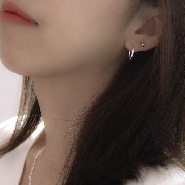 925 Mini Minimalist Trend Earrings