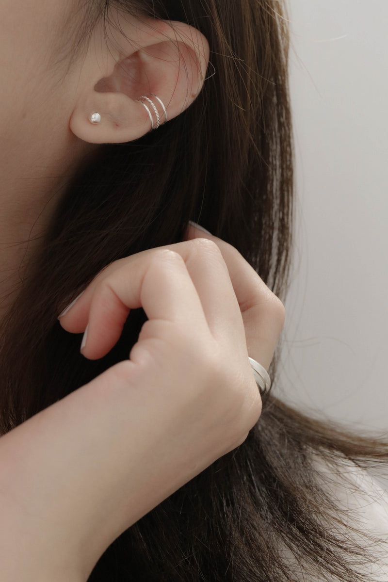 925 Basis Combination Stud Earrings