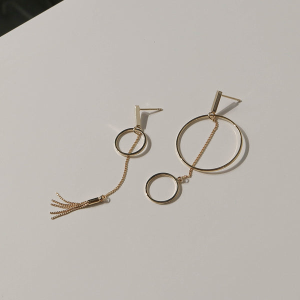 Asymmetrical Geometric Drop Earrings | A KIND OOOF
