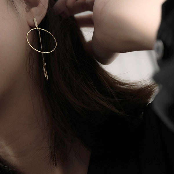 Asymmetrical Geometric Drop Earrings