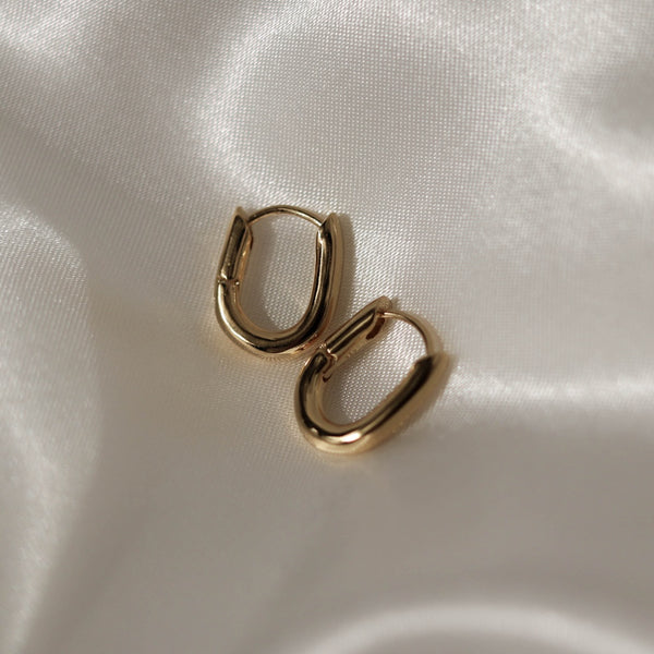 925 Single Chain Style Earrings, 18K Gold Vermeil