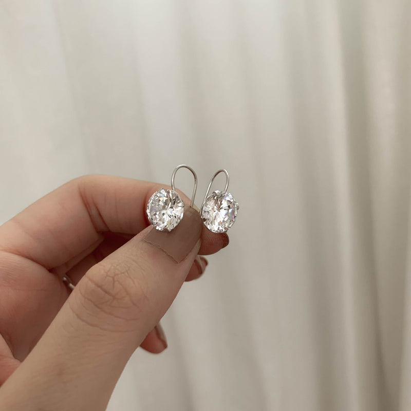 925 Silver Handcrafted Brilliant Sphere Earrings