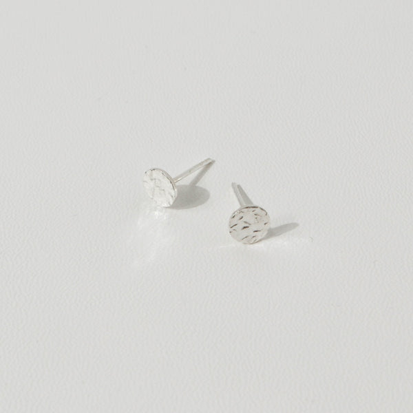 925 Crumpled Form Round Earrings