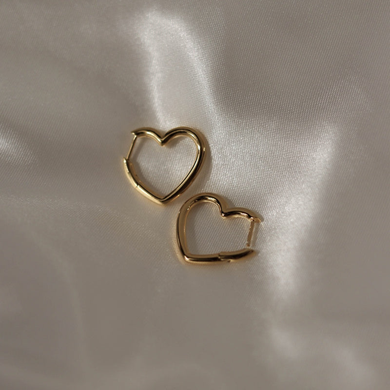 925 Love Chain Earrings, 18K Gold Vermeil