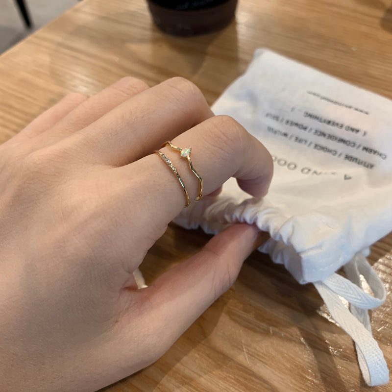 925 Tears of a Mermaid Ring <br><font>Size 11</font>