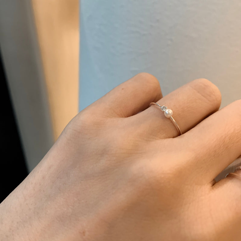 925 Sea of Pearl Ring <br><font>Size 11</font>