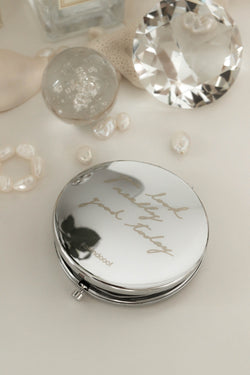 A KIND OOOF - Round Glass Mirror