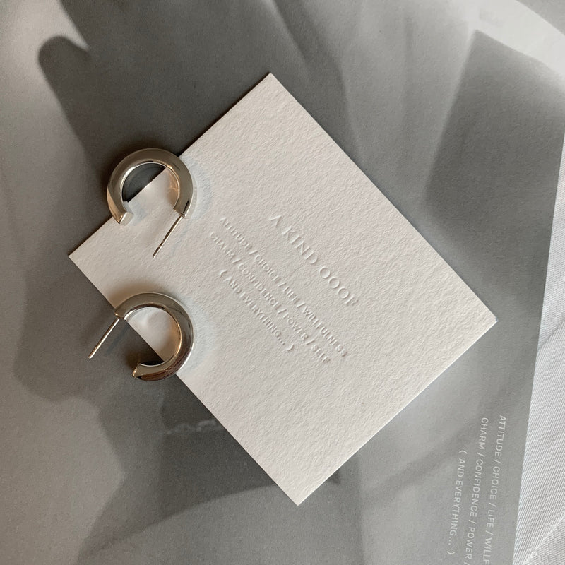925 Classic C Hoop Earrings