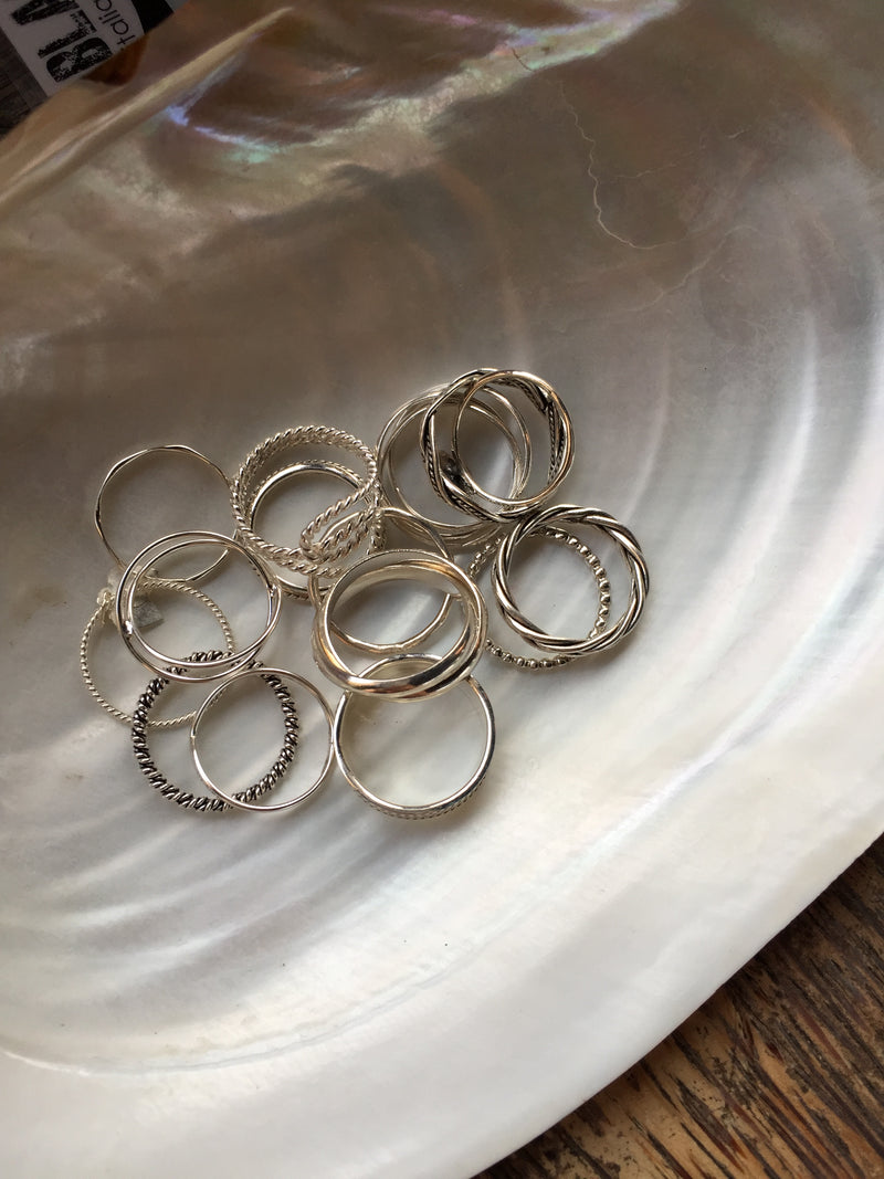 925 |Handcrafted| Twisting Spiral Rope Ring<br> <font>Size 12•14•16</font>