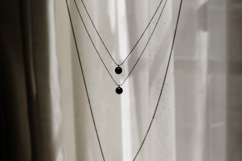 Trio Chain Necklace with Round Discs