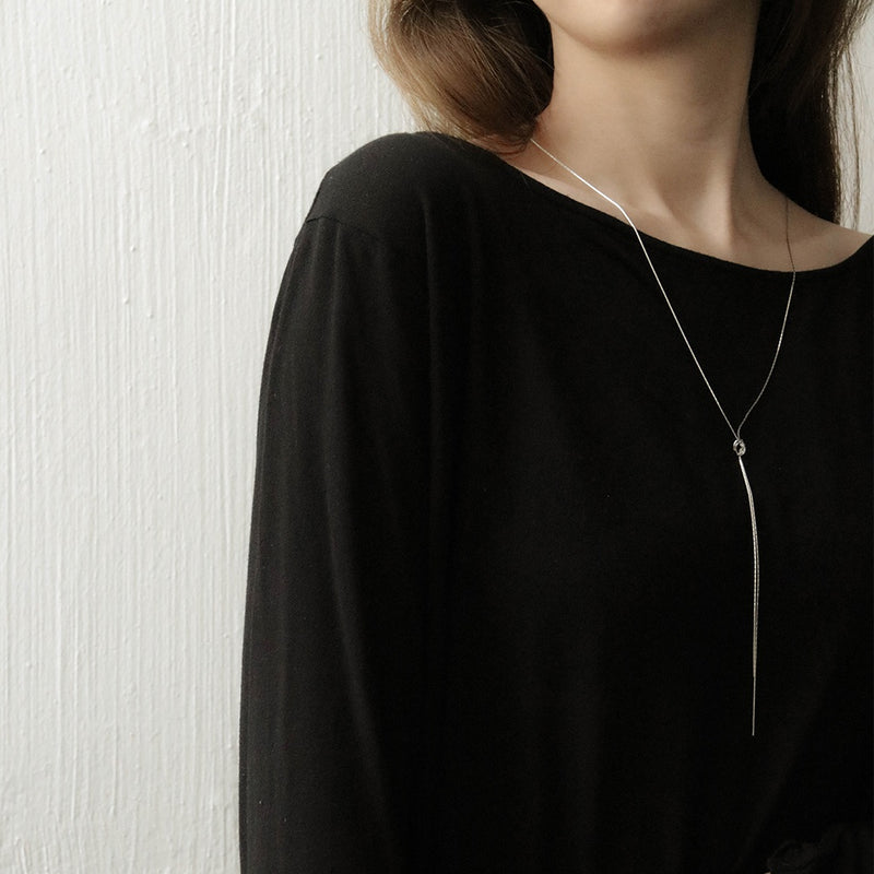 Duo Strand Tassel and Knot Necklace