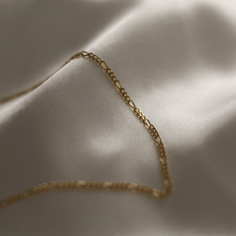 925 Figaro Chain Necklace, 18K Gold Vermeil