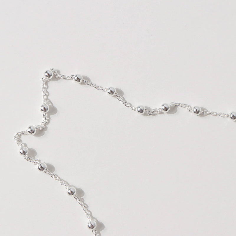 925 Beads on Chain Necklace