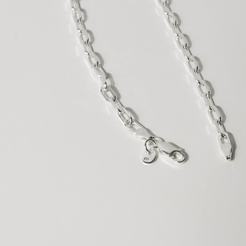 925 |Italy| Handcrafted Cable Chain Mens Necklace with Pendant