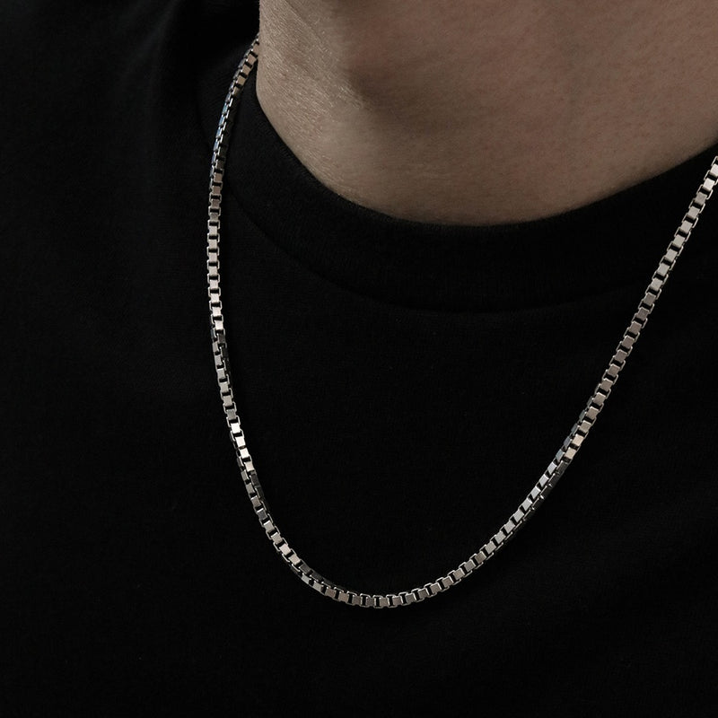 925 Box Chain Mens Necklace | Men's Jewellery | A KIND OOOF