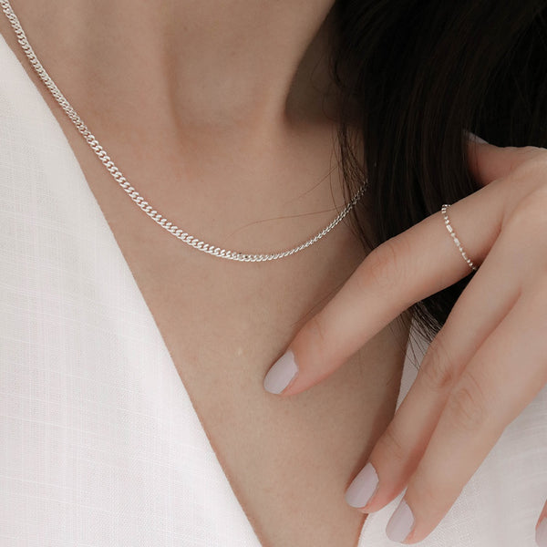 925 Flat Link Chain Necklace with Extensions | A KIND OOOF