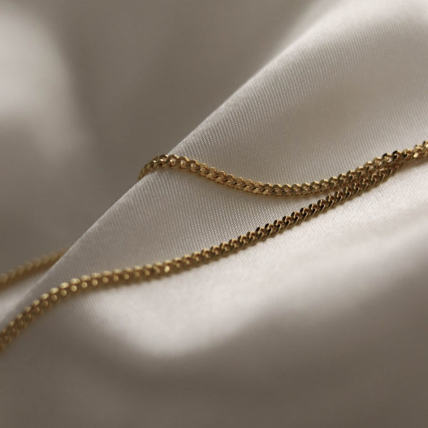 925 Flat Link Chain Necklace with Extensions, 18K Gold Vermeil