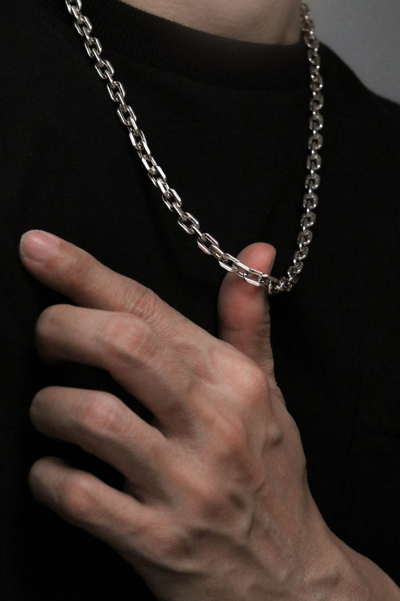 925 |Handcrafted| Cable Chain Mens Necklace
