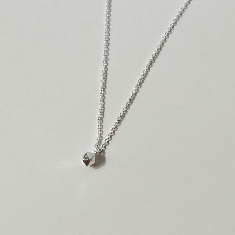 925 Faceted Pendant Necklace