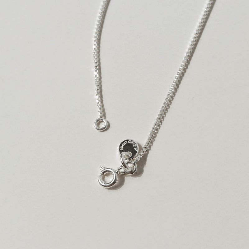 925 Dainty Box Chain Necklace