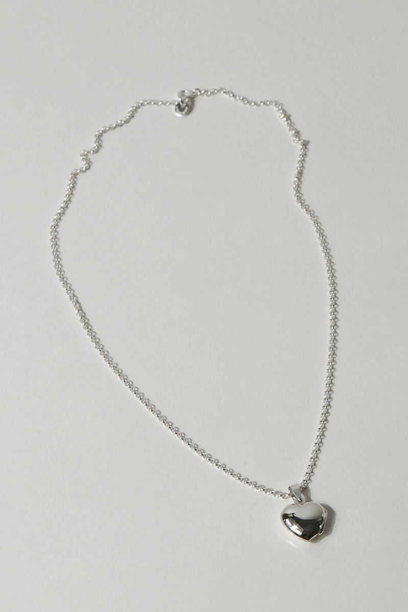 925 Rolo Necklace with Heart Locket Pendant