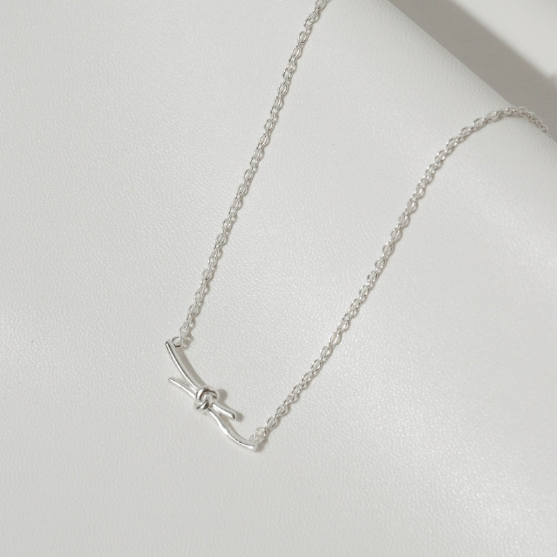 925 |Handcrafted| Knot Necklace