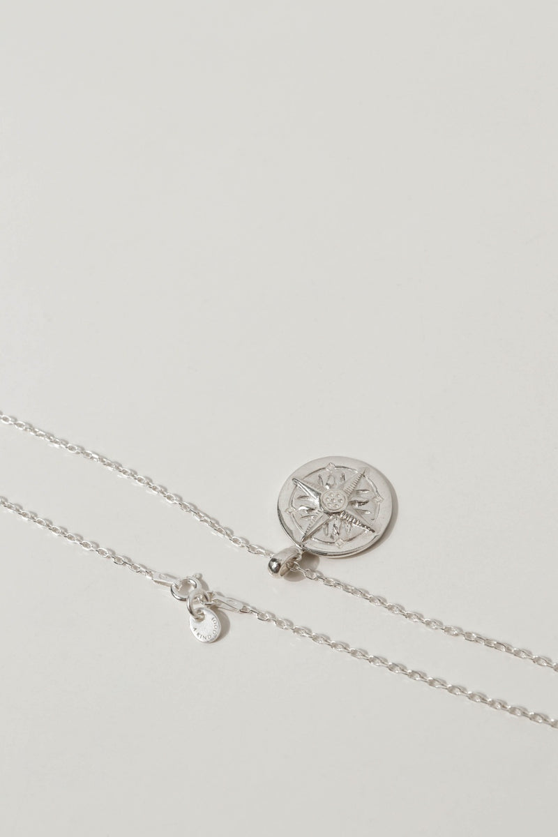 925 |Italy| Necklace with Compass Pendant