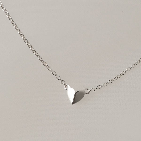 925 Folded Heart Necklace
