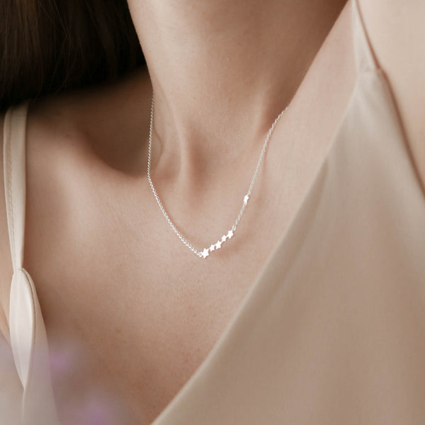 925 Twinkle Shooting Star Necklace