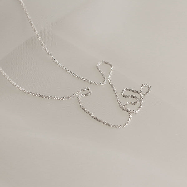 925 |ITALY| Entwined Rope Chain Necklace