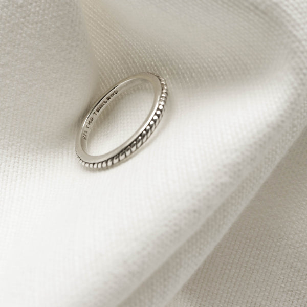 925 |Handcrafted| Band with Spiral Rope Ring<br><font>Size 12</font>