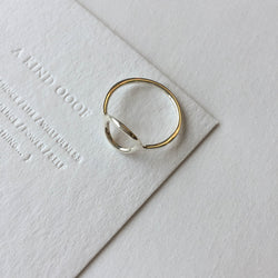 925 Minimalist Hollow Ring <br><font>Size 10•12•14•16</font>