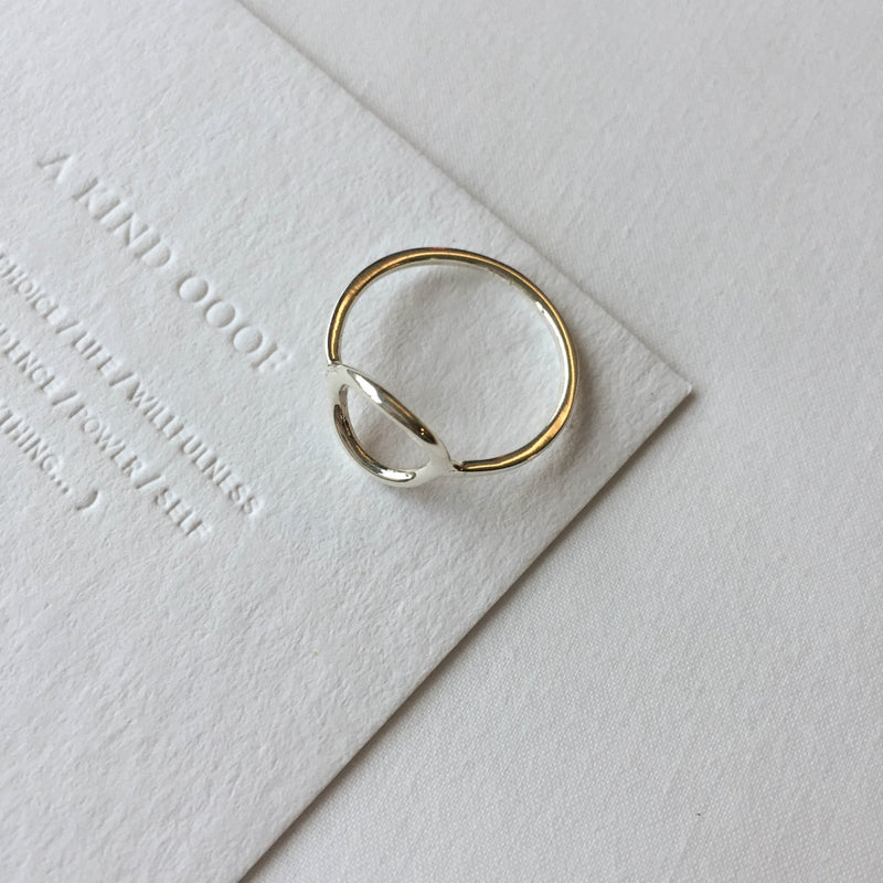 925 Minimalist Hollow Ring