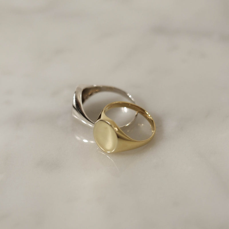 925 Big Boss Ring, 14K Gold Vermeil <br><font>Size 11•14•16</font>
