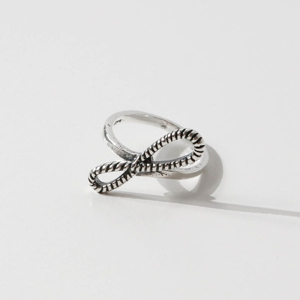 925 |Handcrafted| Spiral Rope Bow Knot Ring <br><font>Size 9•12•14•16</font>