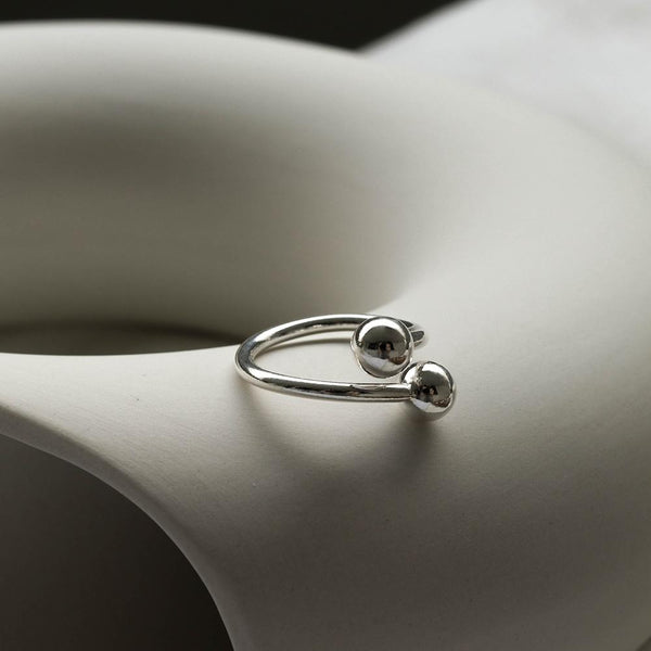 925 Duo Silver Ball Ring | A KIND OOOF