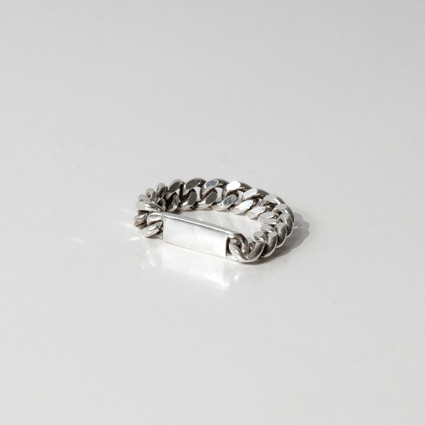 925 |Handcrafted| Cuban Chain Ring with Blank <br><font>Size 9•11•12•13•14•15•16•18•19</font>