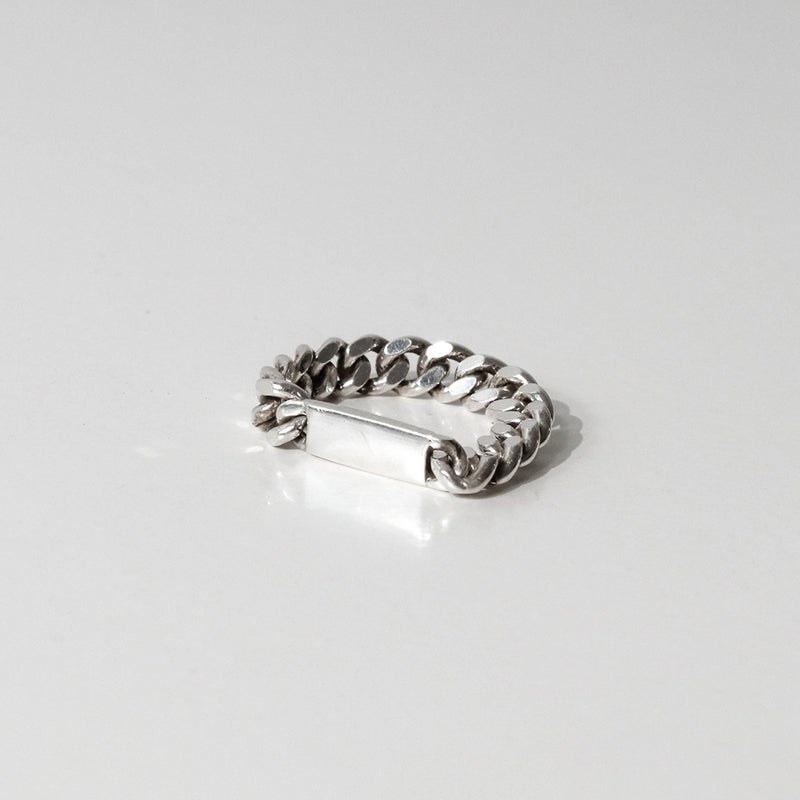 925 |Handcrafted| Cuban Chain Ring with Blank <br><font>Size 11•13•17</font>